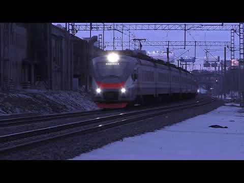 """Электропоезд ЭП2Д-0044 """"ЦППК"""" (ТЧ-3) скорый приг. поезд №7324/7323 Нахабино - Подольск."""