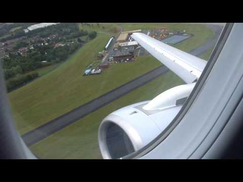 CityJet Sukhoi Superjet 100 Takeoff from Birmingham