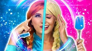 Baixar ELSA AND ANNA TWIN TELEPATHY CHALLENGE, MAGIC SLIME TWIN TEST. Totally TV Parody.