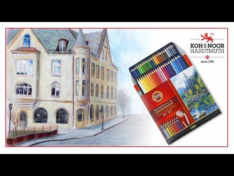 Рисуем акварельними карандашами Koh-i-Noor Mondeluz 48