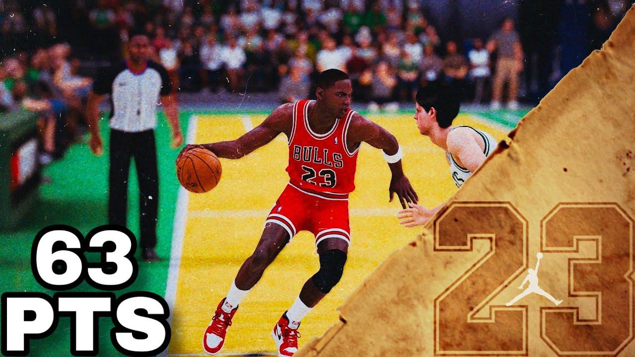 lema Cortar Línea de metal  Michael Jordan Full Highlights vs Celtics (04.20.1986) NBA ...