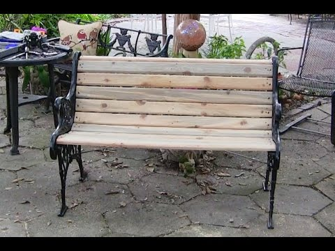 Rebuilding A Bench Using Pallet Wood Youtube