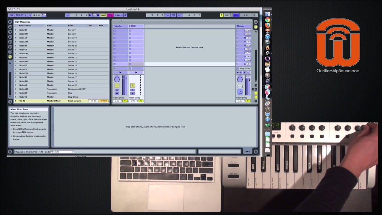 build a set in ableton live and set up a midi controller youtube. Black Bedroom Furniture Sets. Home Design Ideas