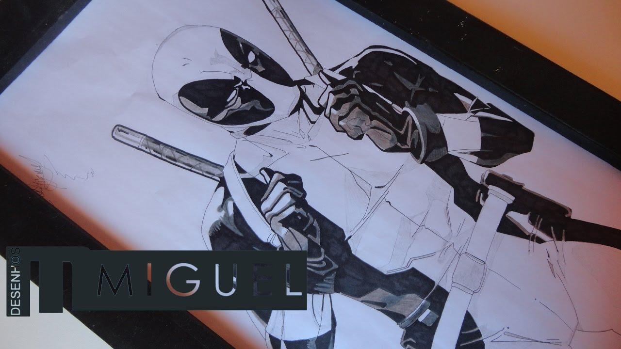 Desenhando Deadpool Drawing Deadpool Youtube
