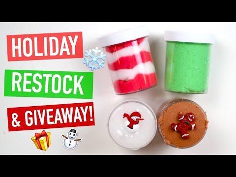 Holiday/Christmas Slime Shop Restock December 3rd, 2017!!