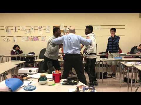 Running Man Challenge Freedom High School English Class Teacher Breaks Up Fight