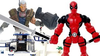 The Deadpool limbs are strange. Assemble the parts and defeat the villain! ❤️ Rachaman Toy Video