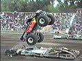 MONSTER MADNESS 1992! LIVE MONSTER TRUCKS CAR CRUSHING! Ogden Utah Racing Stunts