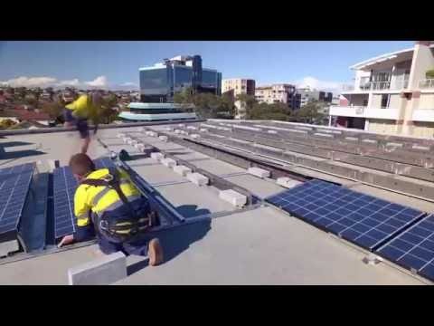 Bowen Library Solar Rooftop Construction