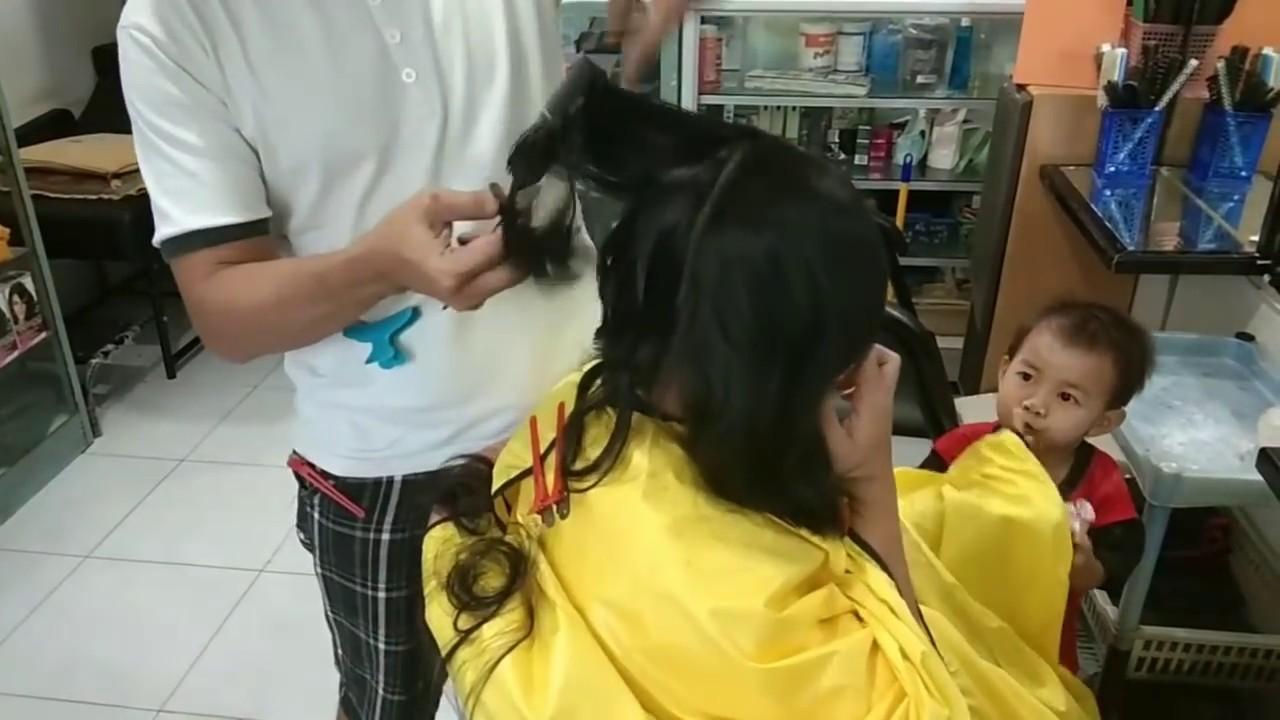 potong rambut bob - YouTube