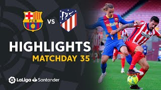 Highlights FC Barcelona vs Atletico Madrid (0-0)