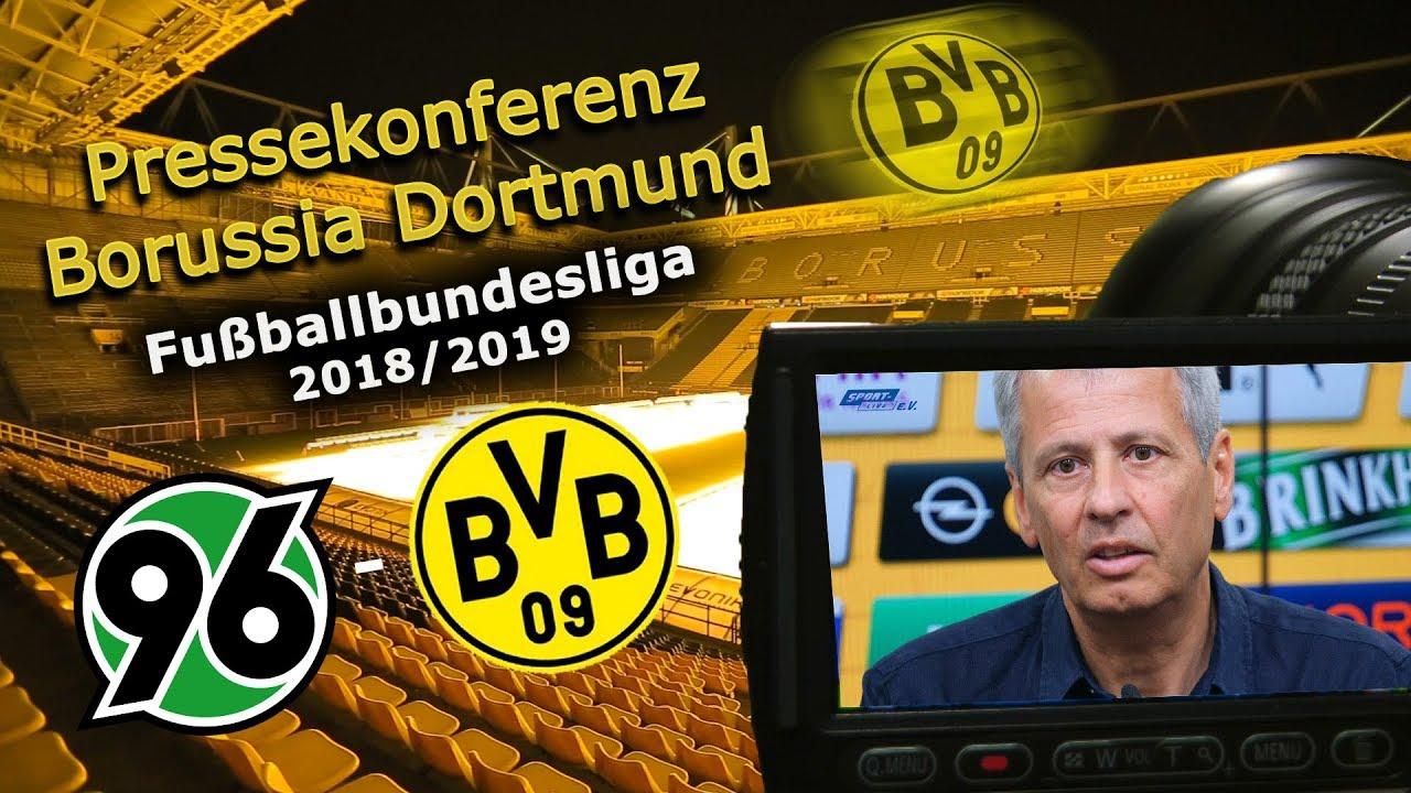 Hannover 96 - Borussia Dortmund: Pk mit Lucien Favre und Michael Zorc
