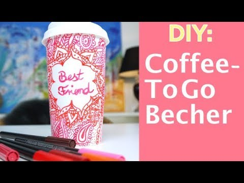 diy coffee to go becher selber machen mandala. Black Bedroom Furniture Sets. Home Design Ideas