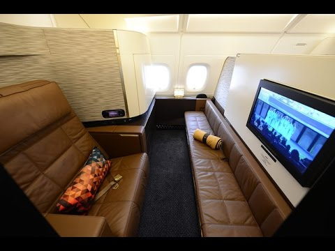 Etihad A380 First Class Apartment Abu Dhabi To New