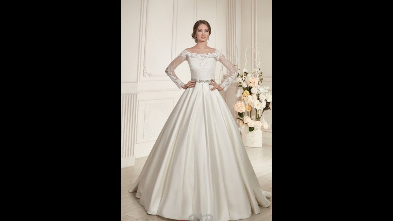 b50de629c742c اجمل موديلات لفساتين الزفاف (البدلات) 2018 2019 - YouTube