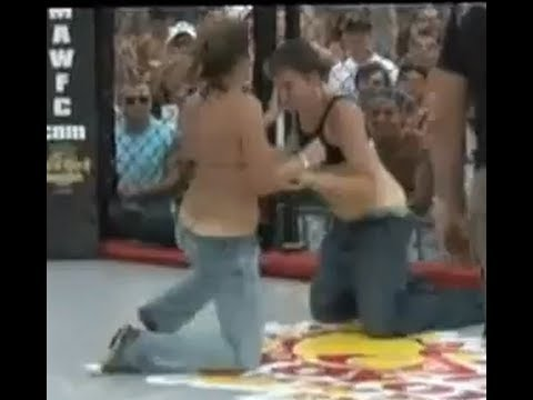 Girl Gets Shirt Ripped Off In Fight