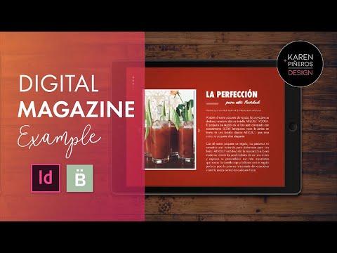 Digital Magazine Example In InDesign