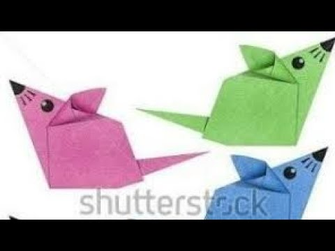 cara buat origami tikus mudah kertas lipat tikus ll origami mouse