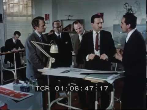 1960s footage inside Foote, Cone and Belding ad agency Baker Street London