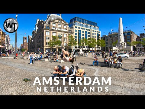 Dam Square, Amsterdam - First Day After Lockdown - 🇳🇱 Netherlands - 4K Walking Tour