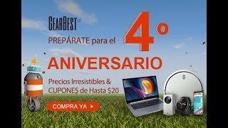 Cuarto aniversario de gearbest.com con grandes ofertas que no te puedes perder