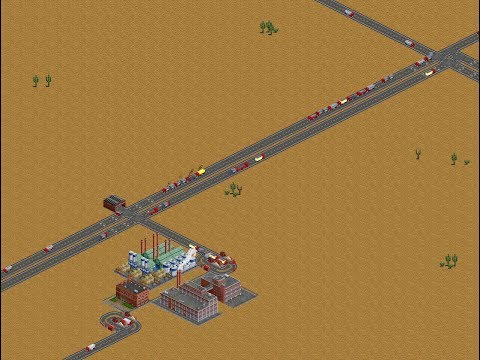 OpenTTD Gameplay FIRS 3.0.3 #2 - A little training. Tropic basic economic