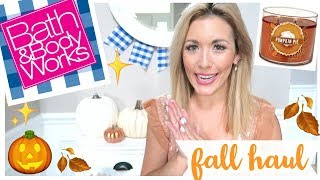 HUGE BATH AND BODY WORKS HAUL NEW FALL 2019 SCENTS + CANDLES TO BUY 🎃🍎🍂 | Brianna K