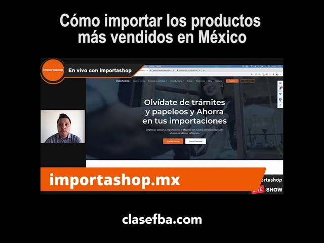 Cómo importar los productos más vendidos en México