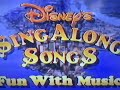 Closing To Disney Sing Along Songs Fun With Music 1989 Vhs