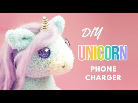 DIY Unicorn Phone Charger | DIY Unicorn Sock Plush | DIY Phone Charger Plush