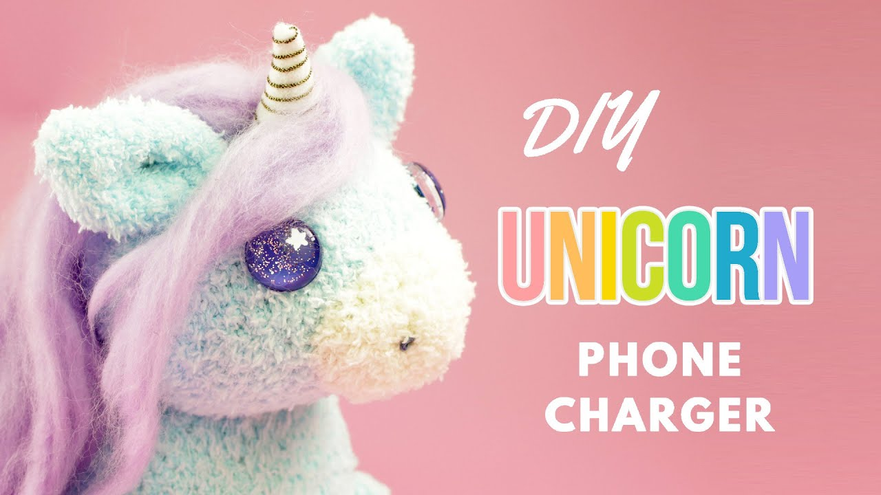 Diy Unicorn Phone Charger Diy Unicorn Sock Plush Diy