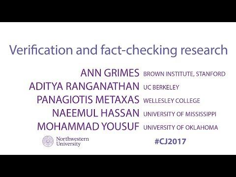 Panel: Verification & Fact-checking Raesearch