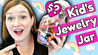 KIDS Jewelry Jar? Making Money on Children's Jewelry - Goodwill Jewelry Jar Unboxing