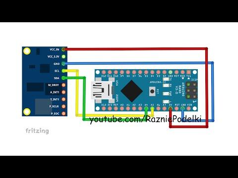 Инерционный трекер на базе Arduino и GY-85