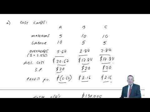 CIMA P2 Activity Based Costing & Activity Based Management