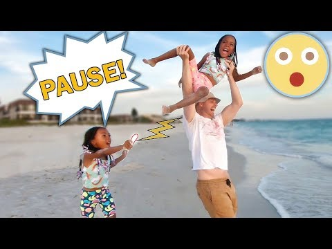 PAUSE CHALLENGE At TOP SECRET LOCATION! (Crazy Dad!)