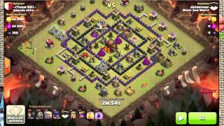 Black and White Clash of Clans War report #19 - How to GoWiWi a TH9 !