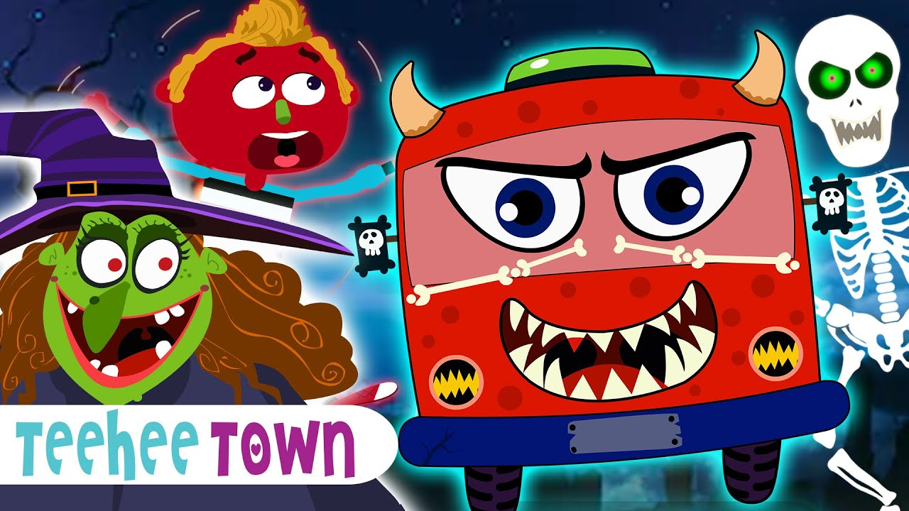 Midnight Magic On The Haunted Bus | Halloween Songs & Rhymes By Teehee Town