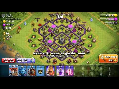 NMT Clash of clans  Combo Lavalon Đánh cực chuẩn của hall 9