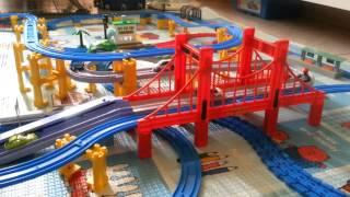 PLARAIL 鐵道王國 #4 x Tomica 大鐵橋 自動道路組