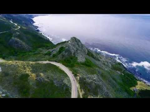 Pacific Coast with a Drone, a GoPro and a Motorcycle (4k)