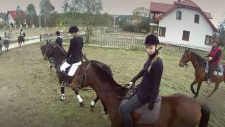 Kielce Hubertus 2010  - Cedzyna gonitwa za lisem + zderzenie + kamera na kasku