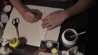 как сделать декоративное перо