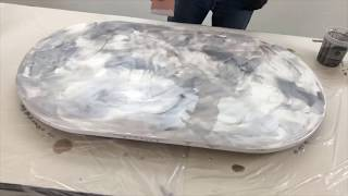 Epoxy Covered Coffee Table!
