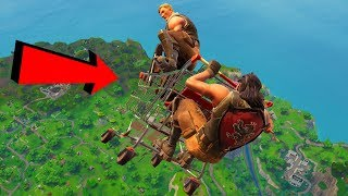 When a Default Skin Has Shopping Cart Hacks on Fortnite...