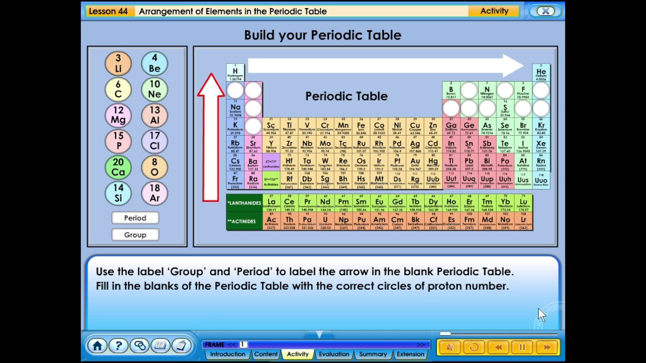 44 arrangement of elements in the periodic table youtube 44 arrangement of elements in the periodic table urtaz Gallery