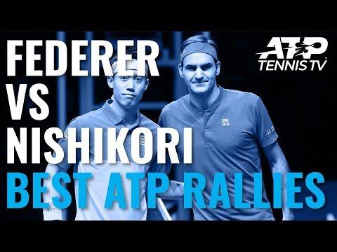 Roger Federer v Kei Nishikori: Best ATP Shots & Rallies