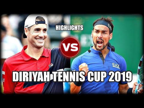 Fabio Fognini vs John Isner DIRIYAH TENNIS CUP 2019 Highlights