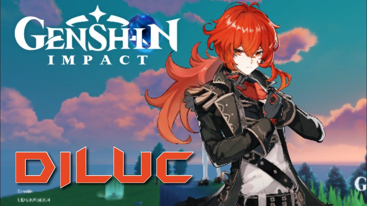 Diluc Genshin Impact Gameplay Youtube