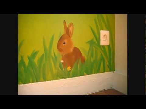 D co pour chambre d 39 enfant peinture d co trompe l 39 oeil - Trompe l oeil chambre ...